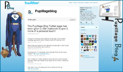 Pupillage Blog hits the Twitter airwaves....